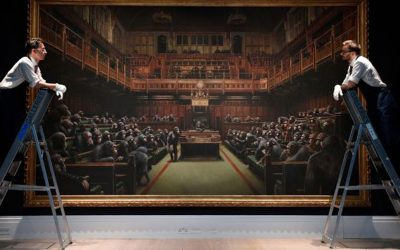 Banksy's 'Devolved Parliament' Depicting MPs As Chimps Sells For Record £9m