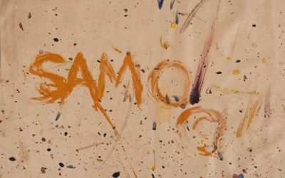 An upstart Auction House just sold one of Jean-Michel Basquiat's SAMO Graffiti Tags – the only example ever to come to market